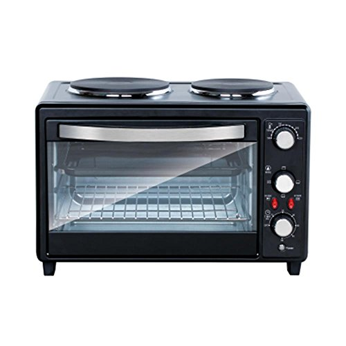 Countertop Convection Oven With Burners : function Countertop Oven Rotisserie Cooker with Dual Electric Burner ...
