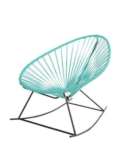 Acapulco Rocking Chair In Black Steel Frame And Turquoise Pvc Cord. The  Sister Version Of The Iconic Acapulco Chair, It Is A Comfortable, ...