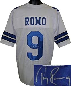 Tony Romo Autographed Hand Signed Dallas Cowboys White Prostyle Jersey by Hall of Fame Memorabilia