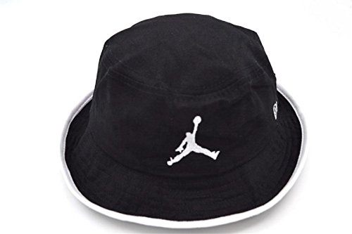 Unisex Air Jordan Sports Fans cappuccio Bucket Hat (Nero, 2)
