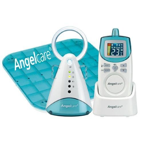 Find Bargain Angelcare Movement and Sound Monitor, Auqa/White