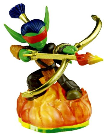 Skylanders LOOSE Figure Flameslinger Includes Card Online Code - 1