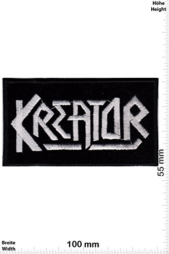 Patch - Kreator - silver HQ -Thrash-Metal-Band - Musicpatch - Rock - Vest - Iron on Patch - toppa - applicazione - Ricamato termo-adesivo - Give Away