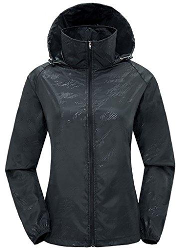 ZSHOW-Femme-Veste-de-Sport-Lger--Capuche-Protection-UV-Coupe-Vent-Impermable--Schage-Rapide