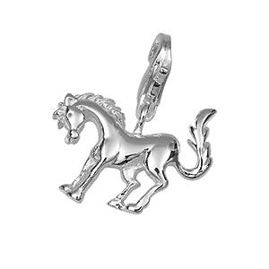 Vinani Damen-Charm Anhänger Pferd Sterling Silber 925 HPF von vinani
