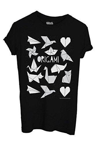 T-Shirt ORIGAMI GIAPPONE 2 - FAMOSI by iMage Dress Your Style - Uomo-XXL-NERA