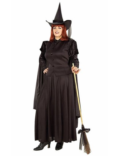 Adult-Costume Classic Witch Adult Plus Halloween Costume - Adult Plus