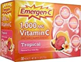 Emergen-C 1,000 mg Vitamin C Tropical Flavoured Fizzy Drink Mix (30 Packets 270g)
