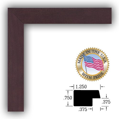 Check Details 20u00d728 / 20 x 28 Picture Frame Dark Cherry Stain on Hard ...