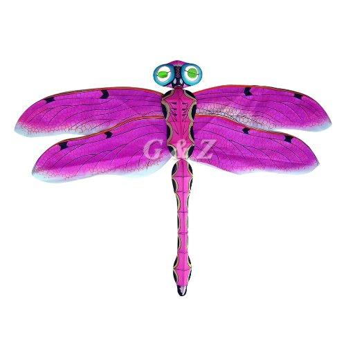 Medium Pink 3D Silk Dragonfly Kites Chinese Handmade Kites
