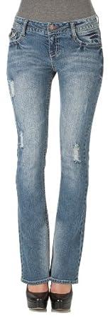 WallFlower Juniors Legendary Bootcut Jeans in Vintage Prep Size: 1