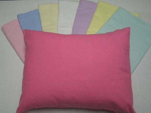 Crib / Toddler Flannel Baby Pillow Case - Light Solids - Aqua - Made In Usa back-963164