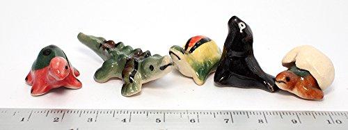 Crocodile Turtle Animals Ceramic Mini Animals Dollhouse Miniatures Figurine set 5 pcs. (Axis And Allies Starter Kit compare prices)