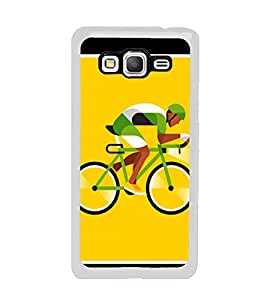 Cyclist 2D Hard Polycarbonate Designer Back Case Cover for Samsung Galaxy Grand Prime :: Samsung Galaxy Grand Prime Duos :: Samsung Galaxy Grand Prime G530F G530FZ G530Y G530H G530FZ/DS
