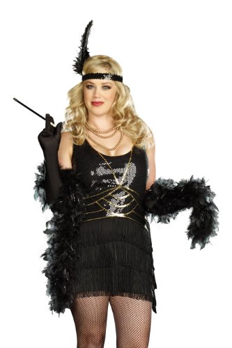 Dreamgirl Plus Ain't Misbehaven Flapper Costume