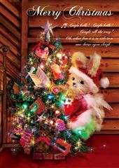 Amazing 3D Greeting Postcard - Collectible Christmas