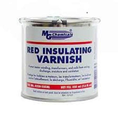 MG Chemicals 4228 Red GLPT Insulating Varnish, Class F Thermal Protection, 3000 V/mil Dielectric Strength, 225mL (7.6 fl. Oz) Bottle, Red