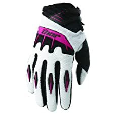 Thor Womens Spectrum Motocross Gloves Pink Medium M