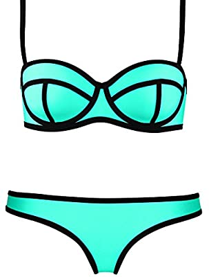 Imilan Luxury Push up Bright Diving Suit Neoprene Bikini Set Swimsuit Swimwear