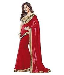 Pushkar Sarees Georgette Saree (Pushkar Sarees_39_Red)