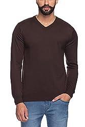 Raymond Men's Woolen Sweater (8907252511037_RMWX00365-O7_44_Brown)