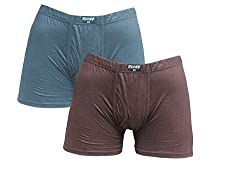Ecott Mens Trunk Underwear (Pack of 2) (ECT-BX132_L_Multi colour_L)
