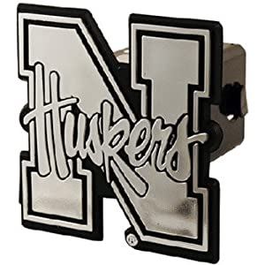 Buy NCAA Nebraska Cornhuskers Car Trailer Hitch Cover by Game Day Outfitters