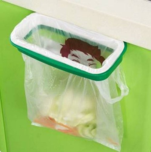 Plastic Hanging Garbage Rubbish Bag Holder Kitchen Cupboard Garbage Bag Storage Rack by STCorps7 (Robot Trash Can compare prices)