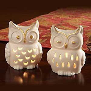 Owl Votive Tea Light Holder