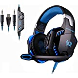 Gaming Headphone Forestfish 3.5mm Wired Stereo Gaming Headset Headphone Headband LED Lighting Over-Ear Noise Cancelling...