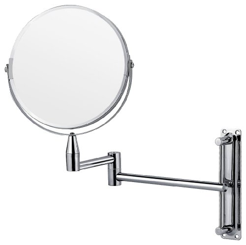 Euroshowers Stainless Steel Wall Mounted Vanity Mirror With 3X Magnification
