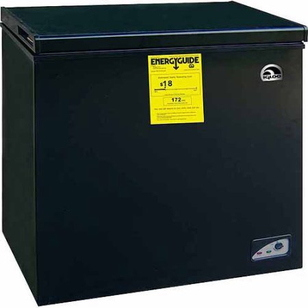 Igloo FRF454-B-BLACK 5.1 cu. ft. Chest Freezer, Energy Star, Black (Black Mini Freezer compare prices)