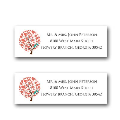 120 B irds On A Branch Personalized Custom Address Mailing Labels Size (2-5/8 X 1) By Rile Designs