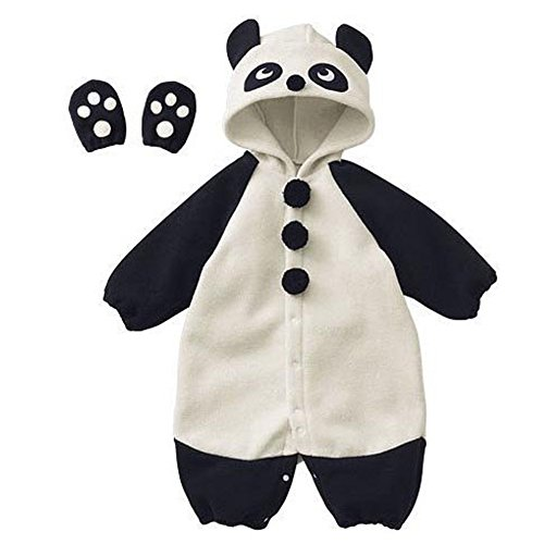 Piggy2gether Cute Baby Panda Jumpsuit Child Romper With Hoddy Animal Costume
