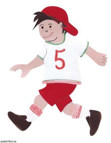 RAYHER 7134600, Bastelset Schultüten-Verzierung, Motiv Fußball