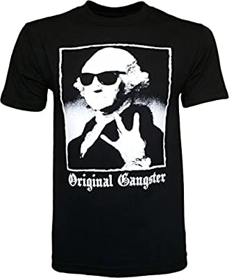 Original Gangster George Washington Founding Fathers Funny Men's T-Shirt