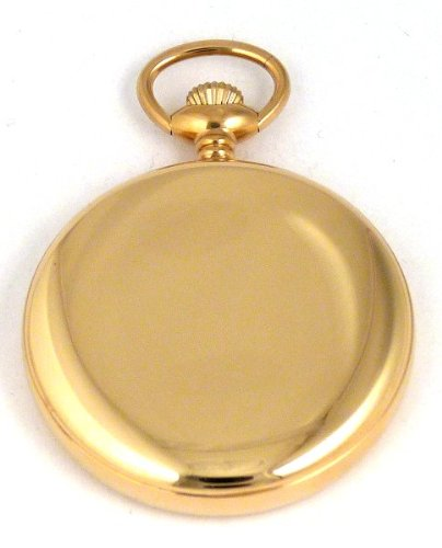 Женские карманные часы Dueber Swiss Mechanical Pocket Watch, High Polish Gold Open Face Case, Assembled in USA!
