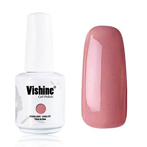 Vishine-Gelpolish-Gel-Nail-Polish-Lacquer-Shiny-Color-Soak-Off-UV-LED-Professional-Manicure-LightCoral1592