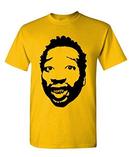 Dirty - Odb Wu Tang Clan Hip Hop Rap Mcgirt Tee Shirt T-Shirt, Xl, Gold