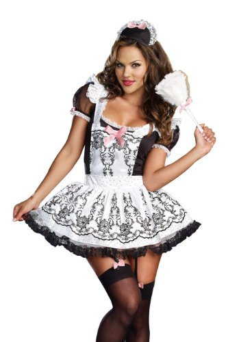 Dreamgirl Women's Sexy French Maid Costume, Maid To Order