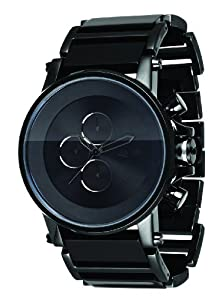 Vestal Men's PLA017 Plexi Minimalist Black Acetate Black Watch