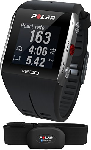 Polar V800 Multisport Integrated Fitness Watch with Heart Rate Monitor & GPS - Black