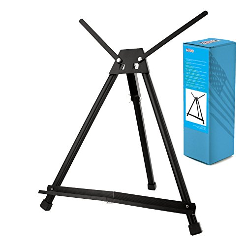 US Art Supply Table Top Aluminum Tri-Pod Artist & Display Easel (Large - Double Arm) (Table Top Painting Easel compare prices)