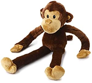 Plush Monkey Squeaking Dog Toy