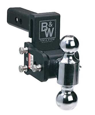 B&W TS10033B Tow and Stow Magnum Receiver Hitch Ball Mount