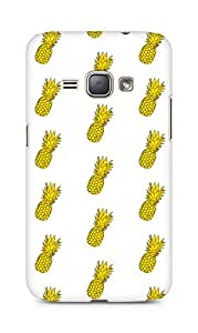 Amez designer printed 3d premium high quality back case cover for Samsung Galaxy J1 (2016 EDITION) (pineapple pattern )