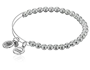 "Alex and Ani Bangle Bar ""Euphrates"" Shiny-Silver Expandable Bracelet"