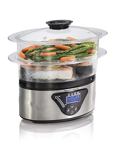 Hamilton Beach 5.5 Quart 2-Tier Digital Steamer (Stainless Steel)