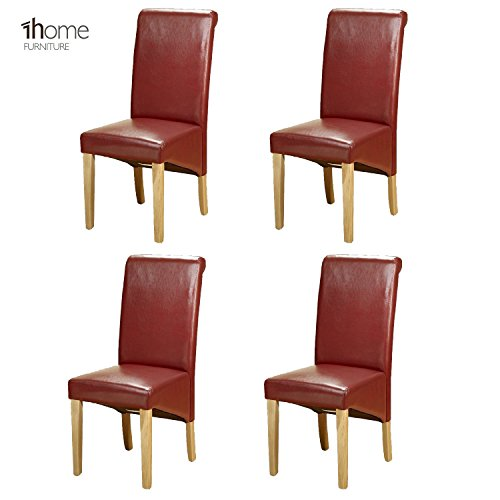 4-x-1home-leather-red-dining-chair-w-oak-finish-wood-legs-roll-top-high-back