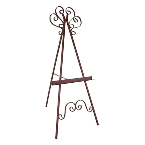 Grace Marseilles Wrought Iron Picture Display Easel, Antique Bronze, Wrought Iron front-746054
